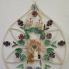 Wall Light Vintage Wrought Iron with Flowers Made by Hand Floral CH-8