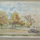 Painting To Watercolour Vintage landscape Signed & Dated 1961 with Frame BM38