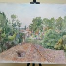 27 5/8x19 11/16in Painting Vintage To Watercolour landscape View Country P32