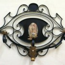 Large Wall Vintage Wrought Iron Forged by Hand Of Excellent Quality Ch