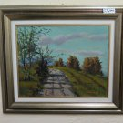 Vincenzo Trick (1908-1993) Painting oil On Linen Signed landscape BM51