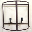 Large Wall Vintage Wrought Iron Forged by Hand Wall Lamp Ch
