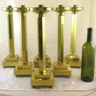 6 Candlesticks Golden Torciera Torcera Brass Vintage Design Candlestick GR4