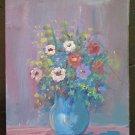 Painting Vintage oil On Board Theme Floral Blossom Half Twentieth Century 900 V