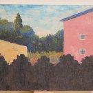 Painting Original Signed Carlo Garaventa View of A Country Of Liguria G25