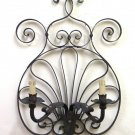 Large Wall Vintage Wrought Iron Forged by Hand Craft Lamp Ch