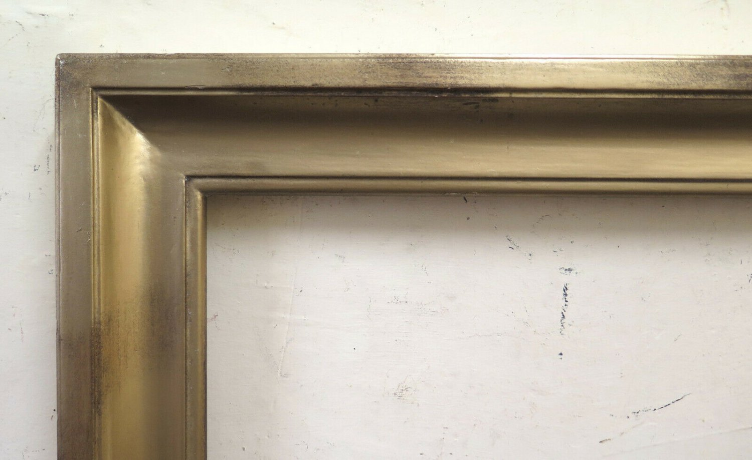 29 7/8x35 13/16in Old Frame Golden Of Great Dimensions Simple Linear Bm