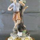 Figurine Of Porcelain Capodimonte Signed Sartori Vintage Ceramic Statue PS6