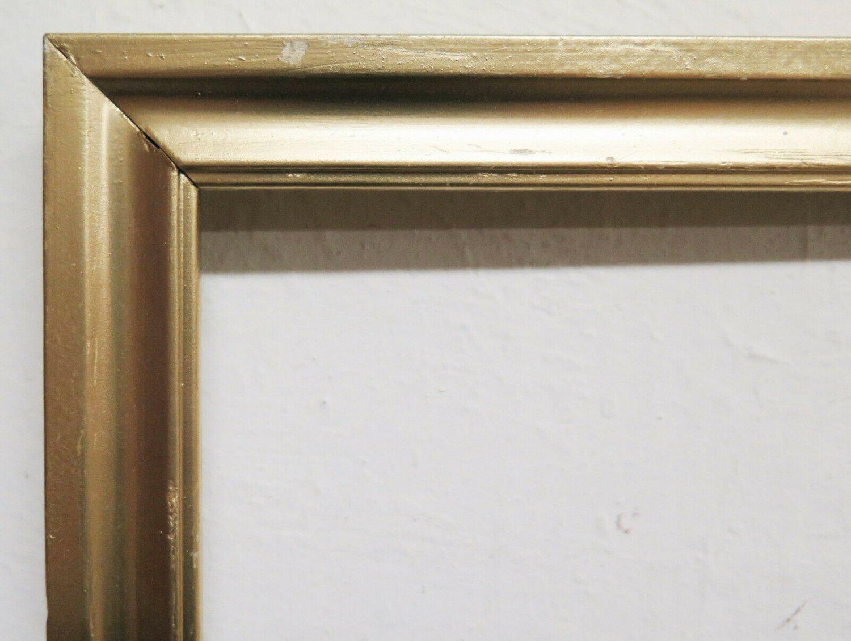 Frame Golden Vintage 13x16 7/8in to Be Restored IN Some Part Vintage Frame R112