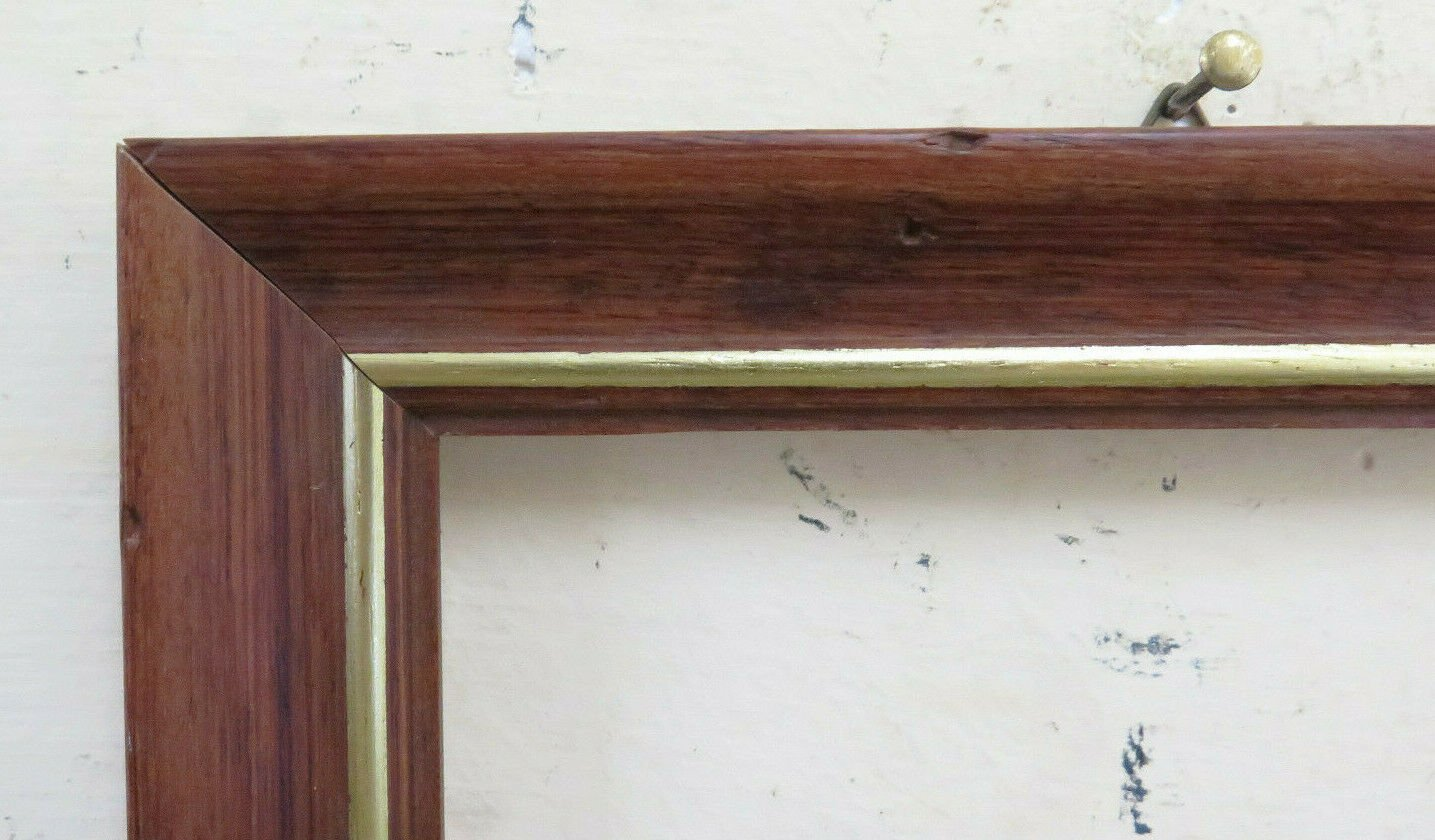7 7/8x10 3/16in Old Frame For Paintings Antique Wooden Simple Linear BM37