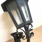 Old Post Wrought Iron Forged by Hand Lantern Vintage Wall Ch