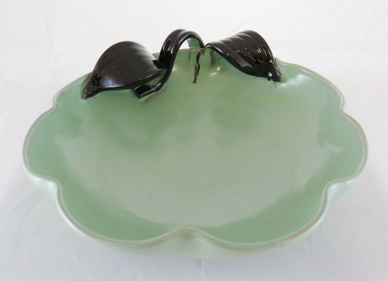 Centerpieces IN Ceramic Green Water Denmark Half '900 Vintage Pottery R42