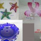 Outlet Lot 6 Ornament Vintage Glass Collectibles Vase plate Candlestick