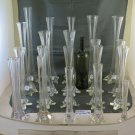 Collection Of 20 Vases For Blossom Bud Glass Vintage Various Measures GR12