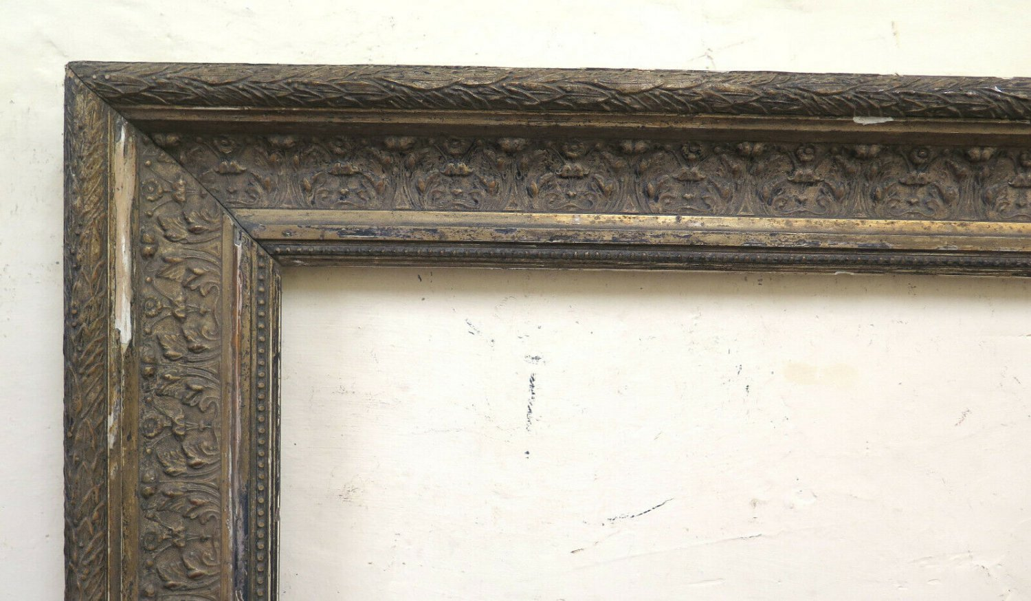 27 5/8x35 13/16in Frame Antique Wooden Style Liberty Art Nouveau For Check CB