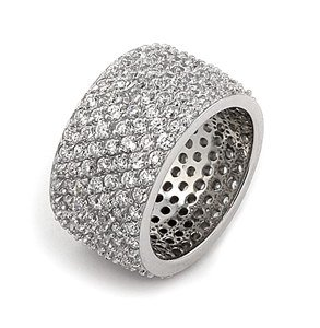 PAVE CZ WIDE RING