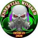 4 Inch - Essential Worker Sticker - Radioactive Skull Virus Window Decal