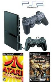 "Slim Sony Playstation 2 ""Value Bundle"" - 86 Games, 2 Controllers"