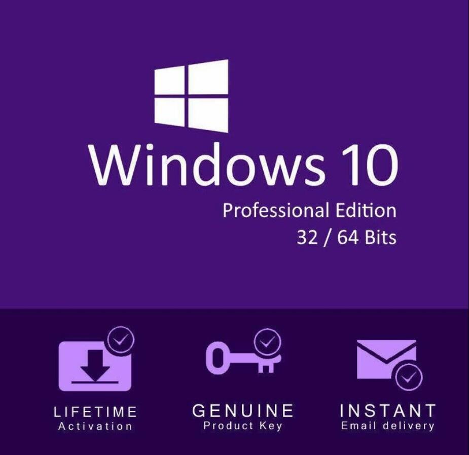 Windows 10 pro 32 64 bit License key genuine. Instant Delivery