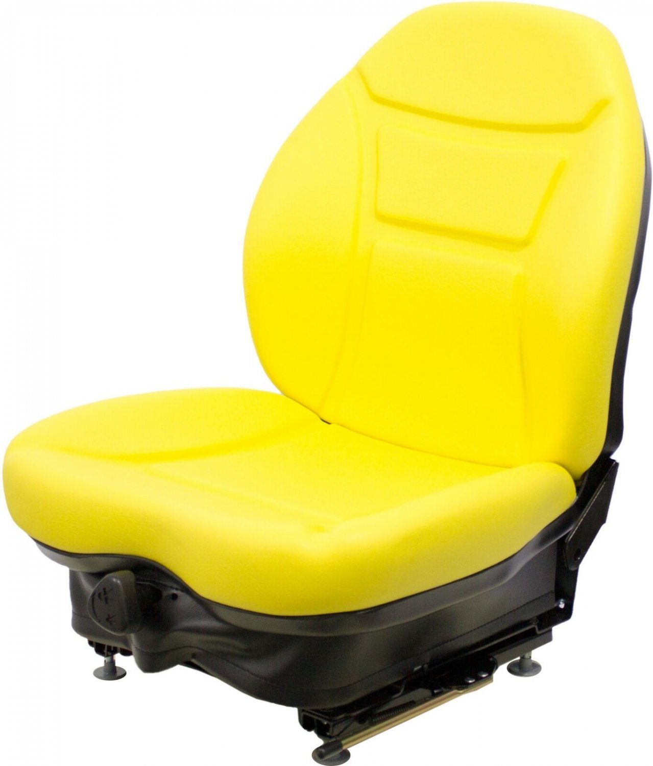Milsco Brand CR100 Yellow Vinyl Seat and Suspension for Multiple Machines