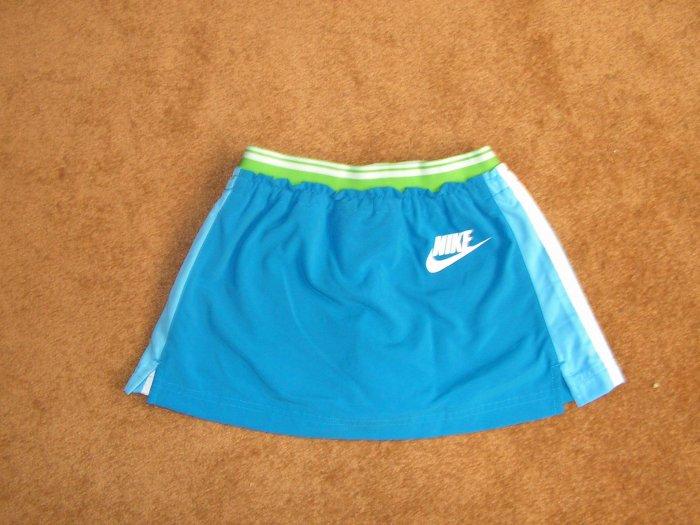 Girls Nike stripe blue skort  skirt  bottom size 7-8 NWT