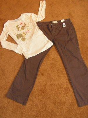 Women's Juniors Aeropostale pants sz 11/12  long sleeve t-shirt sz L