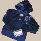 GIRLS BLUE VELOUR MUDD HOODIE ZIP-UP SZ 7/8 NWT