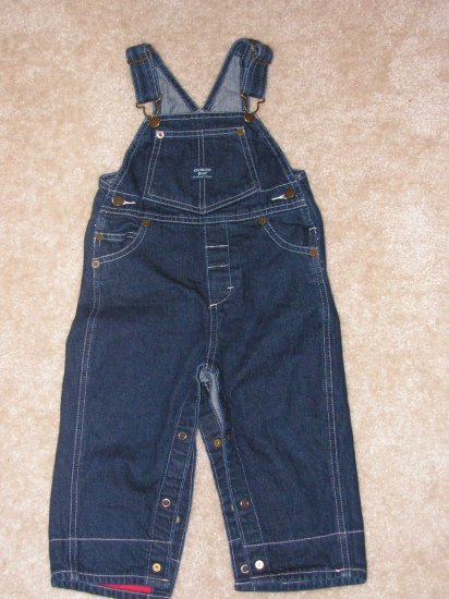 Boys toddlers Oshkosh denim long pants overalls sz 18 months