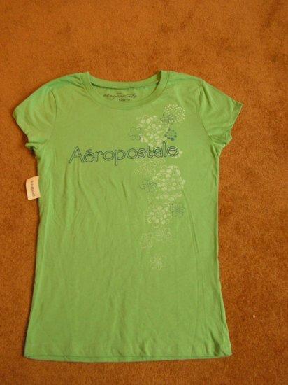 Women's Juniors Aeropostale T-shirt green Baby fit size L NWT
