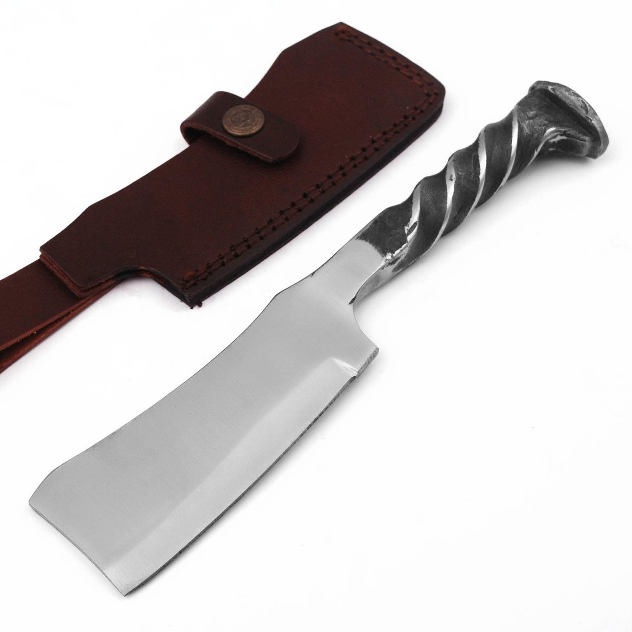 The Butcher Locomotive Railroad Spike Cleaver Knife