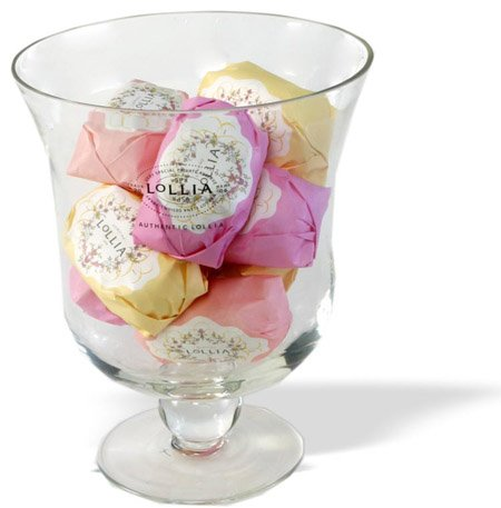 LOLLIA Believe Shea Butter Gift Soaps & Special Reserve Glass Bowl - Set of 9