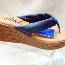 Island Slipper Women's P516 Wedge Thong - DENIM