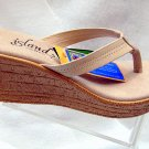 Island Slipper Women's P7220 Wedge Sandal - COCONUT