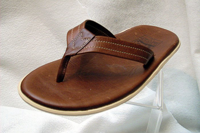 Island Pro Men's PT202 Leather Slider - BROWN