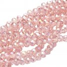 PINK AB - Faceted Rondelle Crystal ABACUS Glass Beads (6mm x 95pcs)