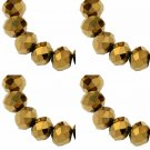 ELECTROPLATE GOLD - Faceted Rondelle Crystal ABACUS Glass Beads (6mm x 95pcs)