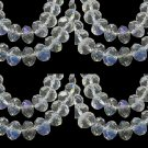 CLEAR AB - Faceted Rondelle Crystal ABACUS Glass Beads (6mm x 95pcs)