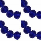 DARK BLUE - Faceted Rondelle Crystal ABACUS Glass Beads (6mm x 95pcs)