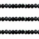 BLACK - Faceted Rondelle Crystal ABACUS Glass Beads (6mm x 95pcs)