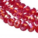 RED AB - Faceted Rondelle Crystal ABACUS Glass Beads (6mm x 95pcs)