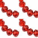 RED - Faceted Rondelle Crystal ABACUS Glass Beads (8mm x 70pcs)