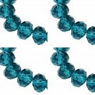 TEAL - Faceted Rondelle Crystal ABACUS Glass Beads (8mm x 70pcs)