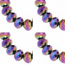 ELECTROPLATE RAINBOW - Faceted Rondelle Crystal ABACUS Glass Beads (8mm x 70pcs)