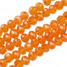 ORANGE - Faceted Rondelle Crystal ABACUS Glass Beads (8mm x 70pcs)