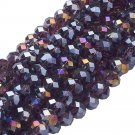 AMETHYST AB - Faceted Rondelle Crystal ABACUS Glass Beads (8mm x 70pcs)