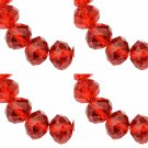 RED - Faceted Rondelle Crystal ABACUS Glass Beads (10mm x 70pcs)