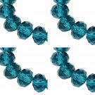 TEAL - Faceted Rondelle Crystal ABACUS Glass Beads (10mm x 35pcs)