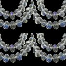 CLEAR AB - Faceted Rondelle Crystal ABACUS Glass Beads (12mm x 35pcs)