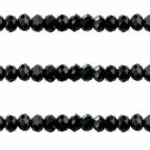 BLACK - Faceted Rondelle Crystal ABACUS Glass Beads (12mm x 35pcs)