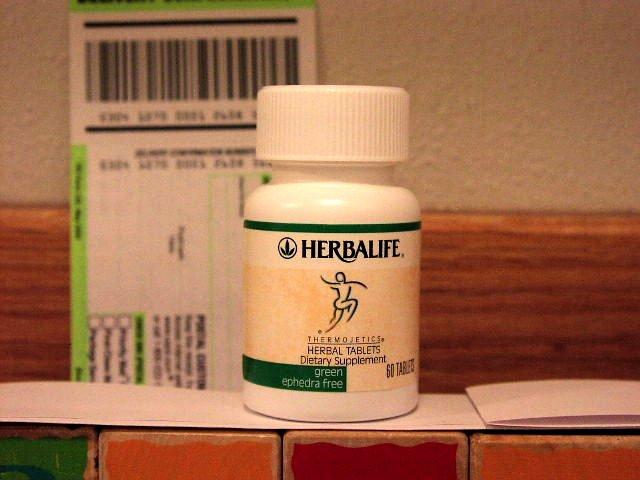 Herbalife Herbal Tablets Green Ephedra Free Thermojetics 2002